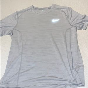 Nike Running Dri Fit Shirt White L